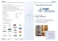 Flyer arago Webfarm - arago - The Automation Experts