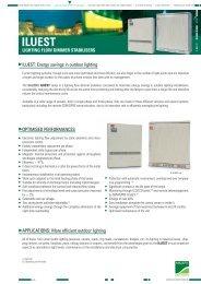 lighting flow dimmer stabilisers - Catálogo de Salicru