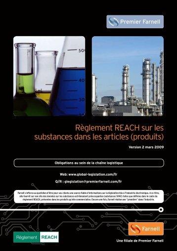Règlement REACH sur les substances dans les articles ... - Farnell