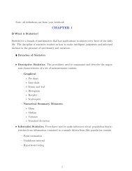 MTSU MATH 1010 Chapter 12 Review - Statistics Mathematical