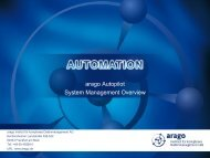 Functionality of the arago Autopilot - arago - The Automation Experts