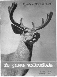 Le Jeune Naturaliste – Décembre 1959.