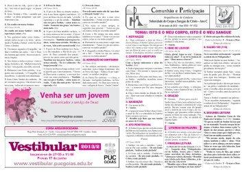 30 de maio de 2013 (Corpus Christi) - Arquidiocese de Goiânia