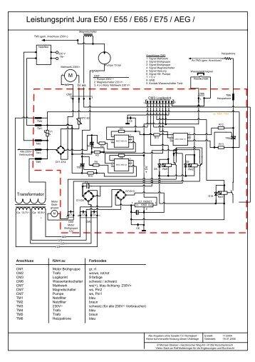Schaltplan Leistungsprint E-Serie