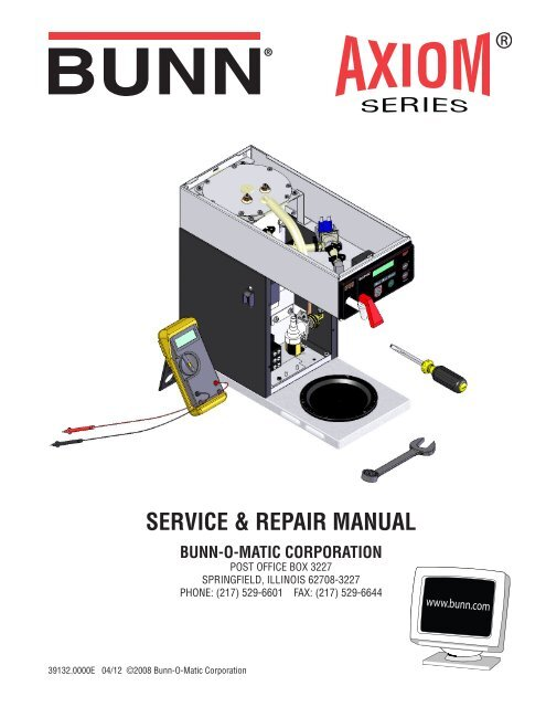 Bunn Axiom 3 Repair Manual The Coffee Bump