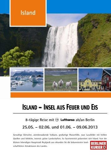 ISLAND – INSEL AUS FEUER UND EIS - Leserreisen