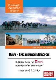 DUBAI – FASZINIERENDE METROPOLE - Leserreisen