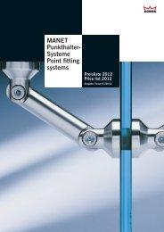 MANET Punkthalter- Systeme Point fitting systems Preisliste 2012 ...