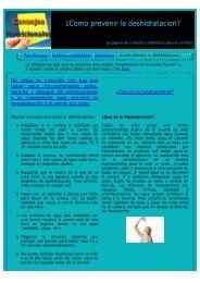 ¿Como prevenir la deshidratacion? - corredores-populares.