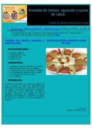 Ensalada de tomate, aguacate y queso de cabra. - corredores ...