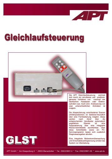 Produktbeschreibung GLST V1.2 - APT GmbH