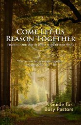 Come Let Us Reason Together - Third Way
