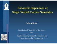 Polymeric dispersions of Single Walled Carbon Nanotubes