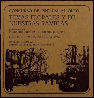 TEMAS FLORALES Y DE NUESTRAS RAMBLAS