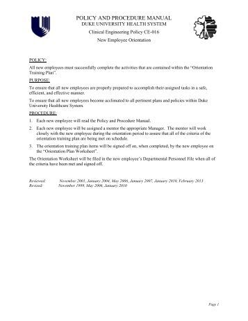 clinical policy and procedure manual