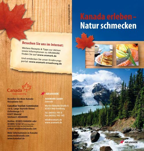 Kanada erleben Natur schmecken - Aramark