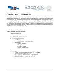 Chandra XTE J1550-564 Press Kit - Chandra X-ray Observatory