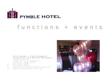 functions + events