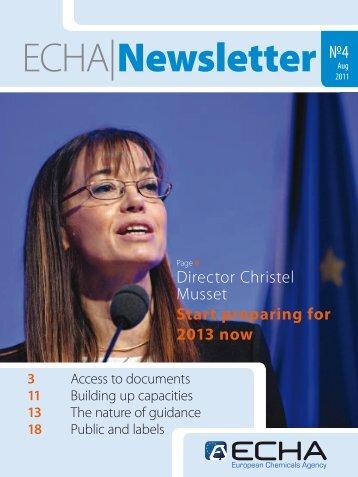 Director Christel Musset Start preparing for 2013 now - ECHA - Europa