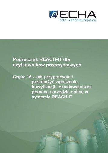 Podręcznik REACH-IT dla użytkowników ... - ECHA - Europa