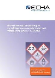 Richtsnoer voor etikettering en verpakking in ... - ECHA - Europa