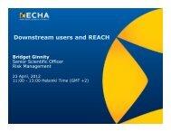 Downstream users and REACH - ECHA - Europa