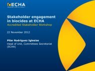 Biocidal Products Committee - ECHA - Europa