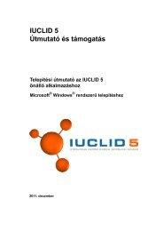 IUCLID 5 Útmutató és támogatás
