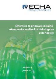 ekonomske analize kot del vloge za avtorizacijo - ECHA - Europa