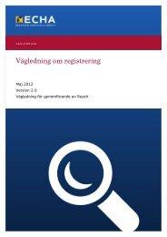 Vägledning om registrering - ECHA - Europa
