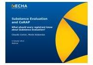 Substance Evaluation and CoRAP - ECHA - Europa
