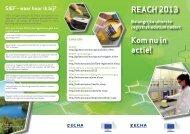 REACH 2013 leaflet - ECHA - Europa