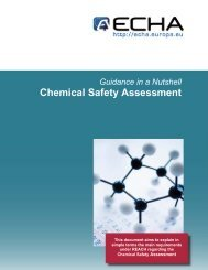Chemical Safety Assessment - ECHA - Europa