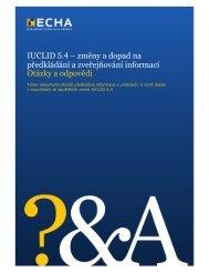 IUCLID 5.4 – změny a dopad na předkládání a ... - ECHA - Europa