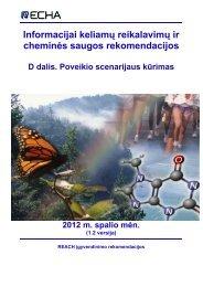 Informacijai keliamų reikalavimų ir cheminės ... - ECHA - Europa