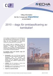 CLP Importers_sv - ECHA - Europa