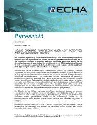 Persbericht - ECHA - Europa
