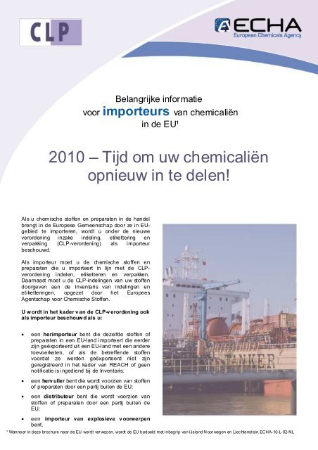 CLP Importers_nl - ECHA - Europa