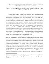 Understanding evolution as an emergent process - The Center for ...