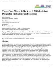 Journal of Statistics Education, v14n1_ Dor Abrahamson, Ruth M ...