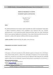 ETHOS: Felsefe ve Toplumsal Bilimlerde Diyaloglar // Sayı: 4 (1 ...