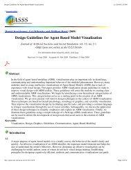 Design Guidelines for Agent Based Model Visualization