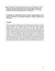 Examining the relationship between students' epistemologies of ...