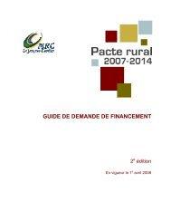 guide de demande de financement - MRC de La Jacques-Cartier