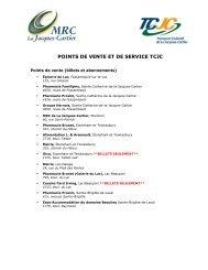 Liste TCJC_2011 - MRC de La Jacques-Cartier