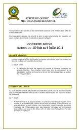 SÛRETÉ DU QUÉBEC - MRC de La Jacques-Cartier