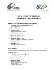 Liste TM_2011 - MRC de La Jacques-Cartier