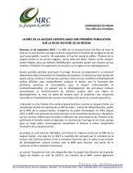 Vivez la différence - MRC de La Jacques-Cartier