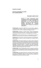 Règlement 08-2009 - MRC de La Jacques-Cartier
