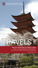 artistic traditions of korea & japan seoul to - Harvard Alumni ...